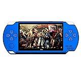 Lazzgirl 4.3 Zoll Portable High Definition Handheld Game Machine 10.000 kostenlose Spiele(Blau,ABS)