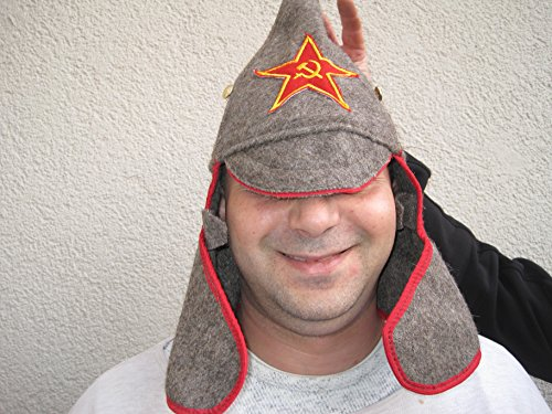 Budjonny Mütze Gr. 57-61 , Sowjetarmee, Russland Mütze Faschingsartikel Karneval