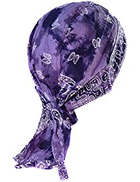 bandana violet paisley serre tete hippie 70 moto biker motard top qualite casque