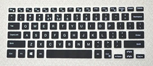 Saco Chiclet Keyboard Skin for Dell Inspiron 14-3000 14-5000 14-7000 Series 14- 3441, 3442 3443, i3442, 3445, 14-3446 i3446, 14-3447 i3447, 3449, 3451, 3458, 14-3451, 3452, 3459, 14-5442, 5445, 5446, 5447 i5447, 14-5448 i5448, 5451, 5455, 14-5458 i5458, 5459, 14-3443, 14-3445, 14-7437, 14-i7437, 7447, 15-7568, i7568 i7437t-2509SLV Series Laptop - (Black with Clear)  available at amazon for Rs.300