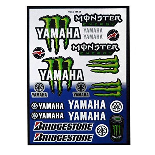 ONOGAL Kit 19 Pegatinas Vinilo Moto Motocicleta Yamaha Monster Energy para Tunear...