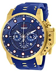 Invicta i-force gold-tone silicone Band Steel case Quartz Watch 25273