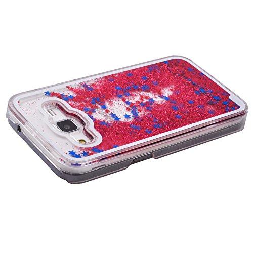 Voguecase® für Apple iPhone 6 Plus / 6s Plus (5,5 Zoll) , Flüssig Fließen (Harte Rückseite) Hybrid Hülle Schutzhülle Case Cover (Weinglas) + Gratis Universal Eingabestift Rot/Blau Stern