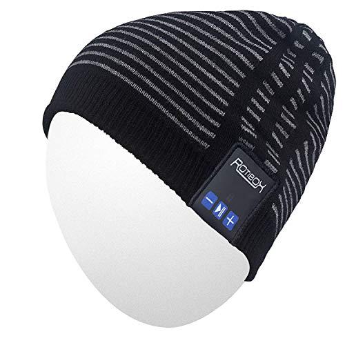 Qshell Trendy Warm Soft Knit Slouchy Beanie Skully Cappello w Cuffie stereo  senza fili Mic a7ecac9ebb08