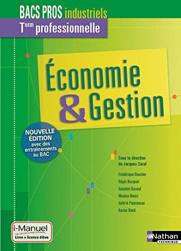 Economie-Gestion Tle Bac Pro Industriels