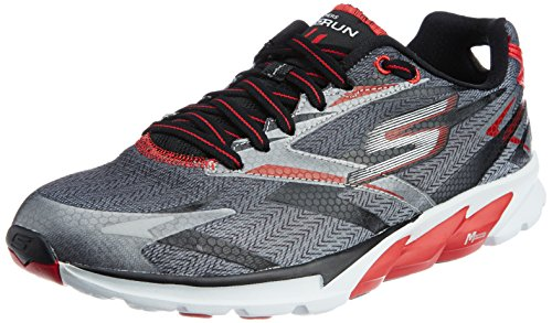 SKECHERS GO RUN 4 - ZAPATILLAS DE RUNNING PARA HOMBRE  COLOR NEGRO (BKOR)  TALLA 42