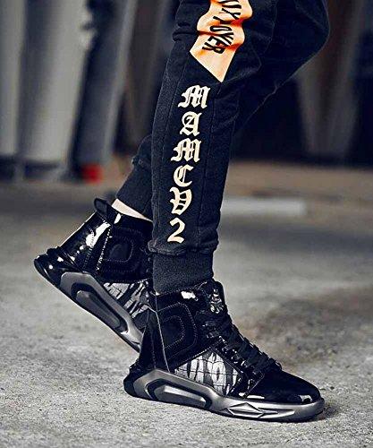 Uomini Leggero Scarpe Da Ginnastica Inverno Nuovo Skateboard Scarpe Moda Di Moda In Cima In Esecuzione Scarpe Black