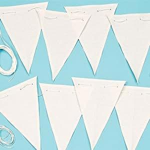 Banderole en tissu à personnaliser - Vendu par lot de 16 drapeaux