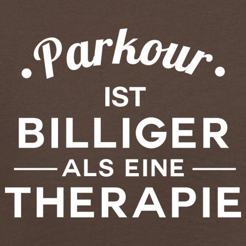 Parkour ist billiger als eine Therapie - Herren T-Shirt - 13 Farben Schokobraun