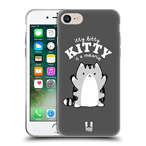 Head Case Designs Snitch Oscar E Howard Nero E Bianco Cover Morbida In Gel Per Apple iPhone 6 Plus / 6s Plus Meanie Kitty