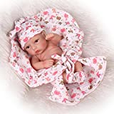 Npkdoll Reborn Baby Doll Hard Silicone 11inch 28cm Small Quilt Girl by NPK