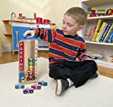 Melissa & Doug Stack & Count Wooden Parking Garage With 10 Cars
