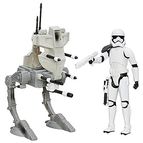 Hasbro – Star Wars – Riot Control Stormtrooper Sergeant & Assault Walker – Figurine 30 cm + Véhicule