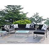 Lux Lounge Mittelelement 67 x 67 cm, h 62 cm schwarz