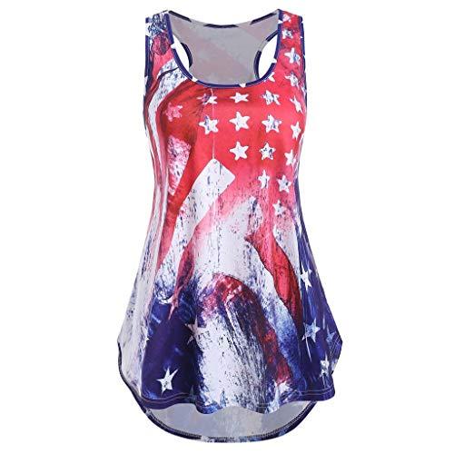 Ears Damen Off Shoulder T-Shirt Oversize Kurzarmshirt Freizeit Hemd Mode Minikleid Sport Shirt V-Neck Tunika Sweatshirt Beiläufig Tee Star American Flag Print Shirt Lässige Top Bluse