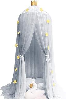 Spitze Kuppelnetz Bettw/äSche Mit Eleganter R/üSchen Spitze F/üR M/äDchen Und Baby-Blau Gelb Huiiv Betthimmel Betthimmel Moskitonetz F/üR Bett