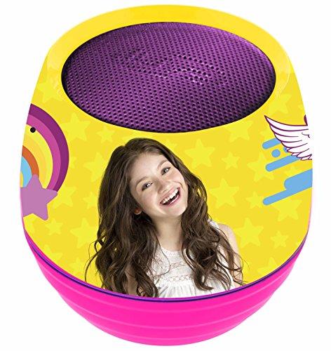 Lexibook Disney Soy Luna Matteo Mini Enceinte Bluetooth enceinte 3W 6 effets lumineux rechargeable battery rose / jaune BT015SL