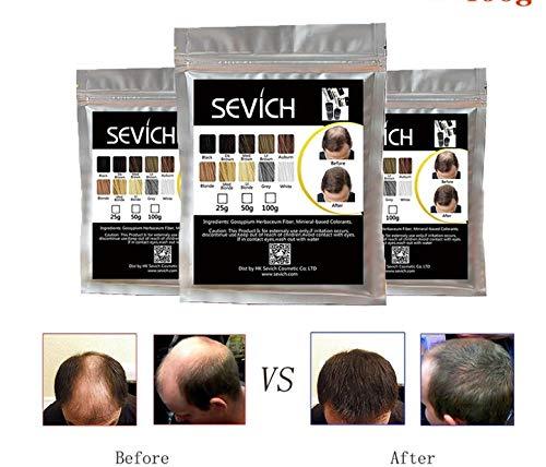 Sevich All Hair Building Fiber Refill Bag (75 g, Black) - Pack of 3
