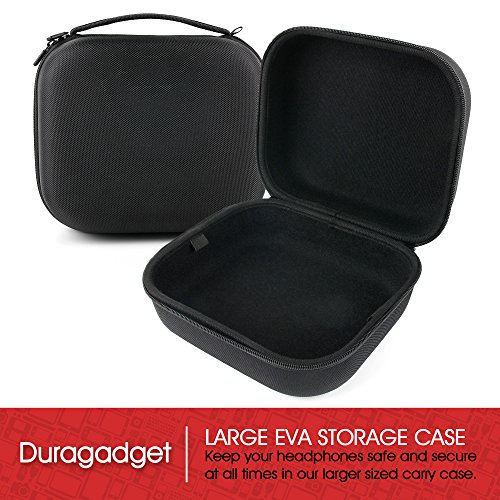Image of LARGE Matte Black Tough EVA Storage Carry Case for the B&O Bang & Olufsen Beoplay H4 Headphones - by DURAGADGET