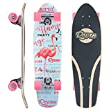Revon Flamingo Cruiser Skateboard mit Double Kick Tail , Komplettboard aus hochwertigen 7 Layer Canadian Maple mit Hoch-Präzision ABEC9 Kugellager