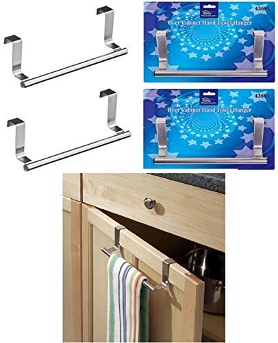2-x-over-kitchen-cabinet-door-tea-hand-towel-rail-hanger-holder-storage-23cm-new-by-e-trade