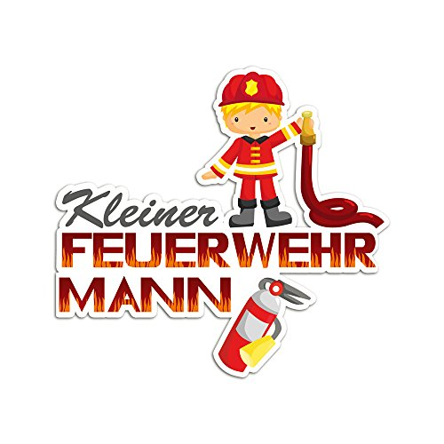 GRAZDesign 721406_30 Wandsticker Fahrzeuge Aufkleber für Jungs Kinderzimmer Feuerwehr Feuerlöscher (32x30cm)