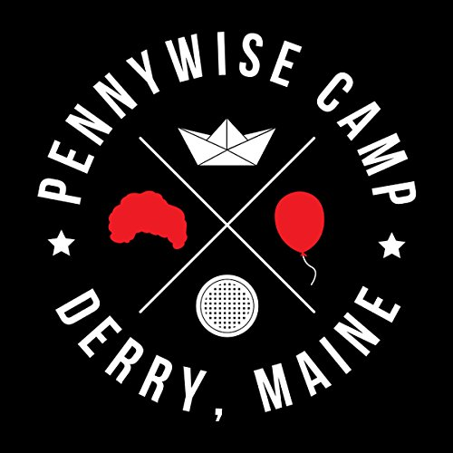 Join The Fun Pennywise Camp Derry Maine IT Men's Vest Black