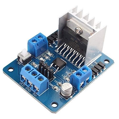 HAPPY-DZ praktische L 298 N Dual H-Brücke DC-Schrittmotor Driver Board Module Controller 5V-35V für Arduino Smart Roboter
