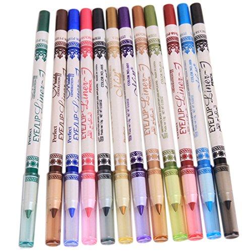 elistelle-12-farben-eyeliner-augenbrauenstift-set-eyebrow-pencil-make-up-werkzeugwasserdicht-12pcs