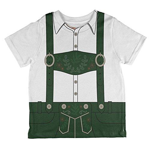 Halloween-Lederhose Jodeln Jodler Kostüm Schweizer ganzen Kleinkind T Shirt Multi 6 (Jodler Kostüm)