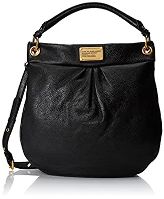 Marc Jacobs Leather Classic Q Hiller Hobo Black