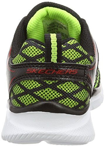 Skechers EqualizerQuick Track, Sneakers basses garçon Noir (Noir/Jaune)