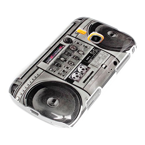deinPhone AR-720008 - Carcasa rígida para Samsung Mini 2 S6500, diseño de radiocasete