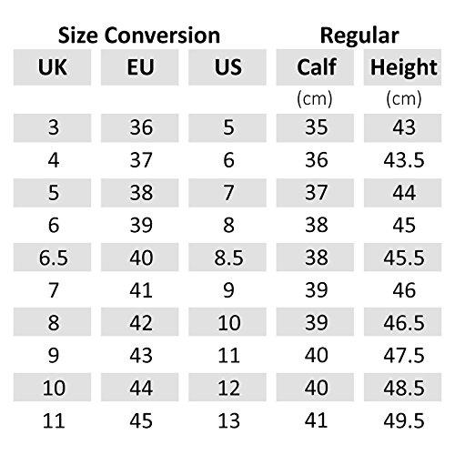 Unisex Leder braun für Springreiten Dressur Wettbewerb Reitstiefel, Größe: 3-10 Braun - braun