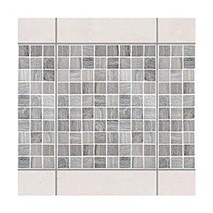 Apalis Fliesenaufkleber Fliesenbild Mosaikfliesen Marmoroptik 20x25 Set 10teilig