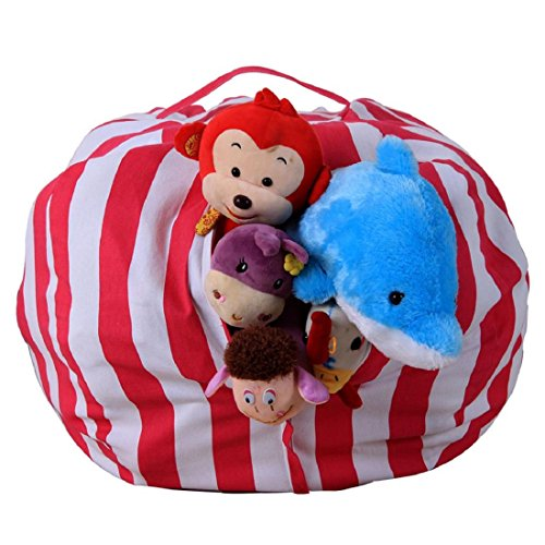 Culater® Enfants Bourrés Animal Peluche Stockage sac de haricot poche Soft Pouch bande tissu (D)