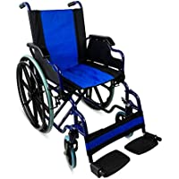 Silla de ruedas plegable | autopropulsable | reposabrazos abatibles | azul | Giralda | Mobiclinic | Asiento de.