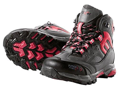 Kinder Trekkingschuhe Grau/Rot Wanderstiefel Wanderschuhe Trekkingstiefel Schuhe Größe. 32 (Kinder Schuhe Großhandel)