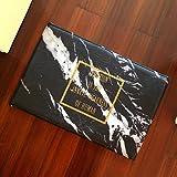 WANG-shunlida Fußmatte, Nordic Marmor, Goldenen Brief, Fußmatte, Wc, Bett, Mat, Schlafzimmer Bett Teppich, 40 X 60 Cm, J 206-01