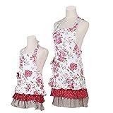 G2PLUS Schön Frau Schürze Schürze Baumwolle Küchenschürze Modische Apron mit Taschen zum Kochen oder Backen