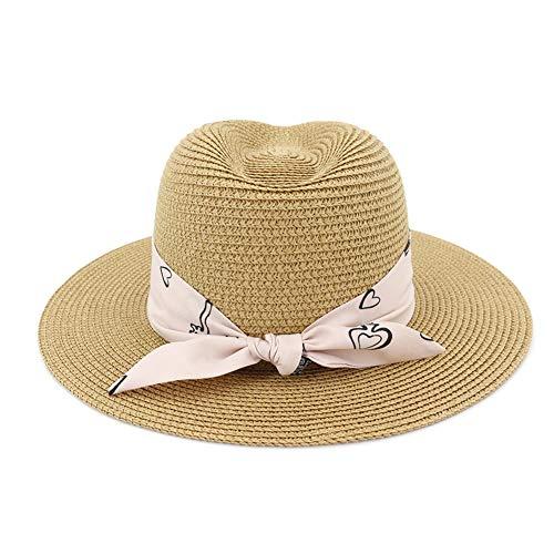 HGYIO Sombrero de Paja de Playa para niñas, Sombrero de...