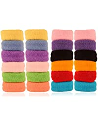 AccessHer Soft Multicolor Rubber Hair Band - Set Of 24 Pcs.