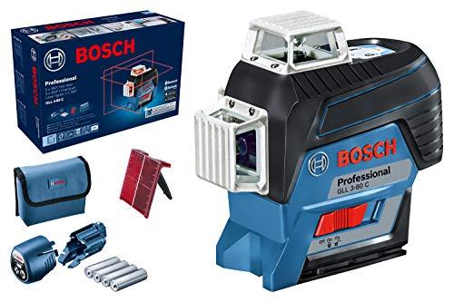Bosch Professional Linienlaser Batterien Arbeitsbereich