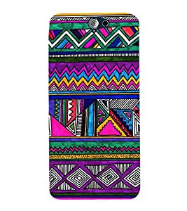 Abstract Pattern 3D Hard Polycarbonate Designer Back Case Cover for HTC One A9