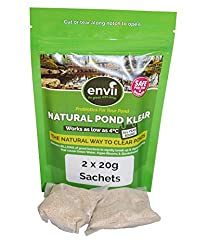 Envii Natural Pond Klear – Natural Pond Clear Treatment Eliminates Green Water & Algae In Wildlife Ponds - Treats 20,000 Litres