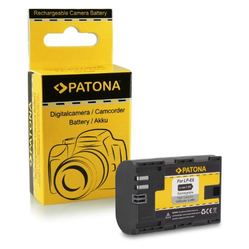 Batteria de qualità premium come Canon LP-E6 con Infochip · 100% compatibile con Canon EOS 5D Mark II, Mark III, EOS 7D, 70D, 60D, 60Da