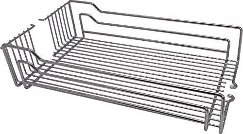 GedoTec® Einhängeboden Einhängekorb für Kesseböhmer Hoch-Schrank Dispensa | Drahtkorb für 30er Apothekerschrank breite | 250 x 467 x 110 mm | Stahl silberfarbig | Markenqualität für Ihren Wohnbereich