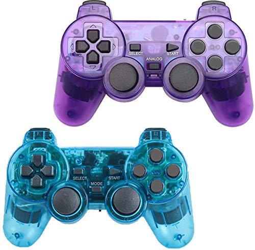 Gollec - Mando a Distancia inalámbrico Compatible con PS2 Playstation 2 Double Shock