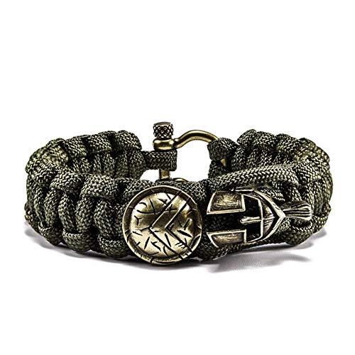 HMKLN Outdoor Survival Army Helm Seil Helm Schild Armband Armband männlichen Wrap Metal SportArmbänder Geschenke für Männer
