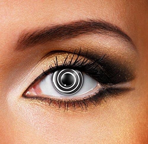 80181 BLACK SPIRAL gefärbte Kontaktlinse Crazy Kontaktlinsen, Farbspaß, Top-Qualität.
